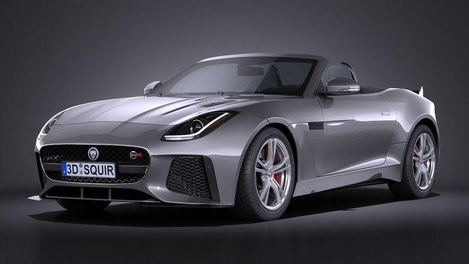 jaguar f-type svr cabrio 2017 3d model max obj mtl 3ds fbx c4d lwo lw lws 1