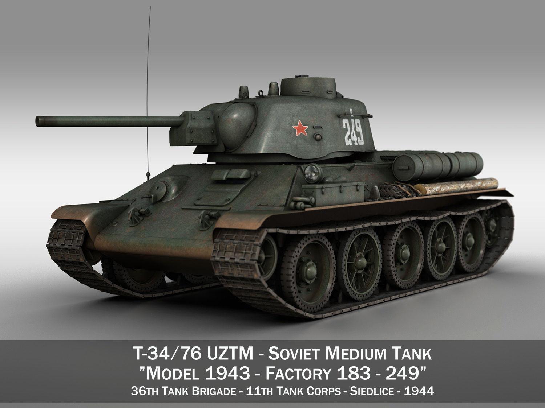T-34-76 UZTM- Model 1943 - Soviet tank - 249