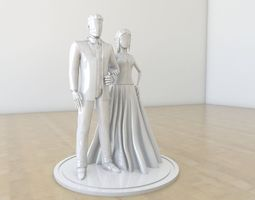 3D print model Wedding couple cake decor
