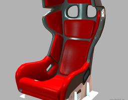 recaro racer pro ultima 3d model low-poly max