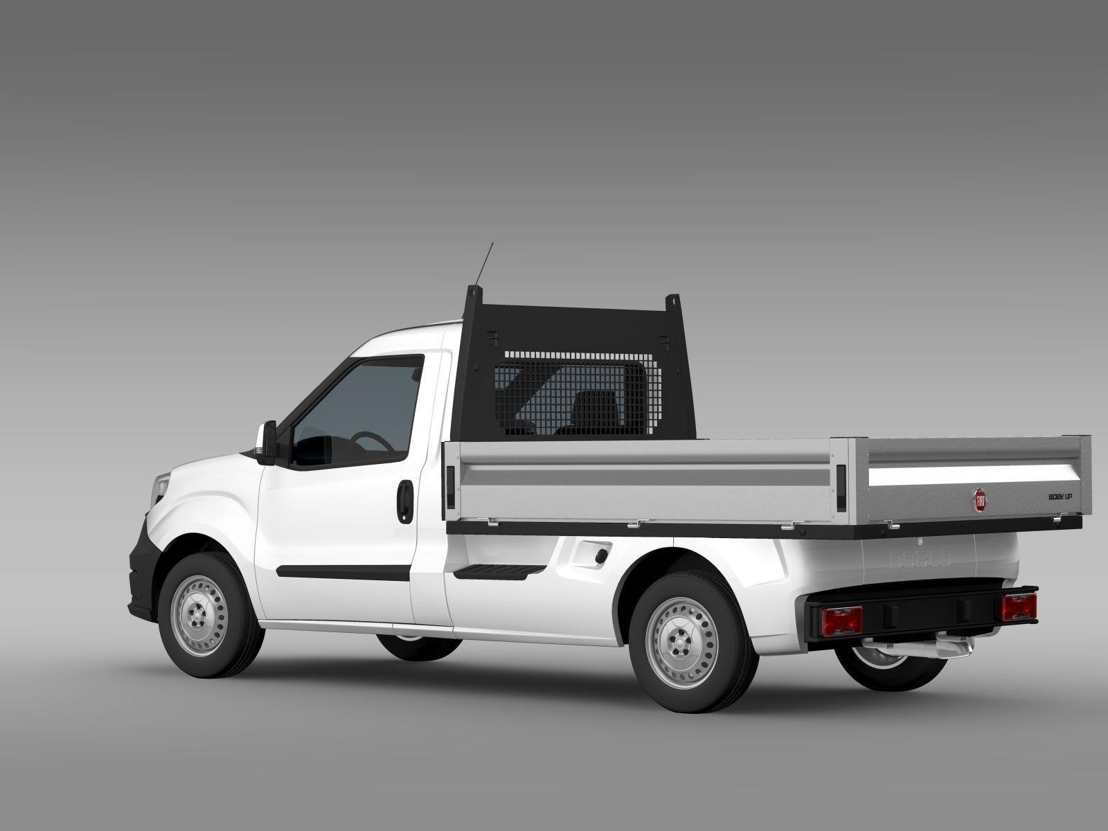 Fiat Doblo Work Up 263 2017 3d Cgtrader Pickup Truck Model Max Obj Mtl 3ds Fbx C4d Lwo Lw