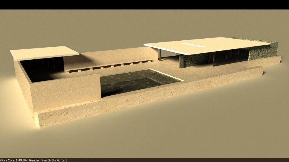Fesselnd Barcelona Pavillion By Mies Van Der Rohe 3D Model