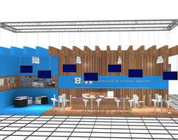 b-m exhibition stand design 3-2 3d