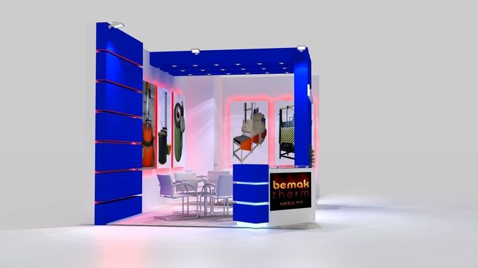 Free 3d Exhibition Stand Design : D model bemaktherm exhibition stand design cgtrader