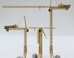 Tower Crane PBR Shader 3D model