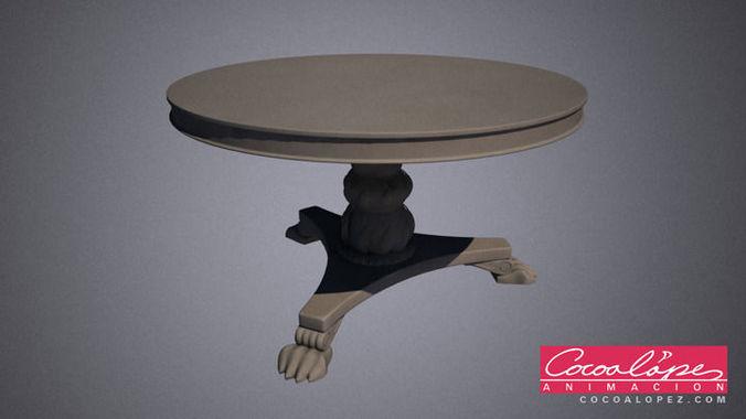art deco table 3d model max obj mtl 1