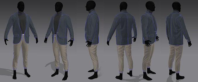 Men in coat-pant and t-shirt marvelous file