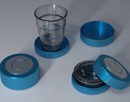 3D printable model Folding cup