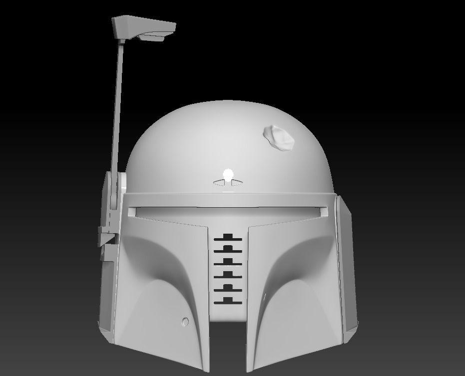 Boba Fett Dented Helmet ready to print movable range finder