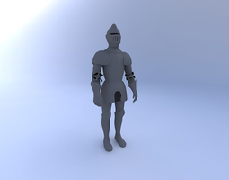 Knight-in-Shining-Armor-w-Texture 3D model