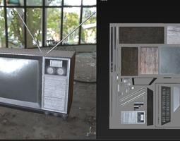 PBR Game Ready Retro Television set 3D model