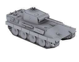tank panther v 3d model max