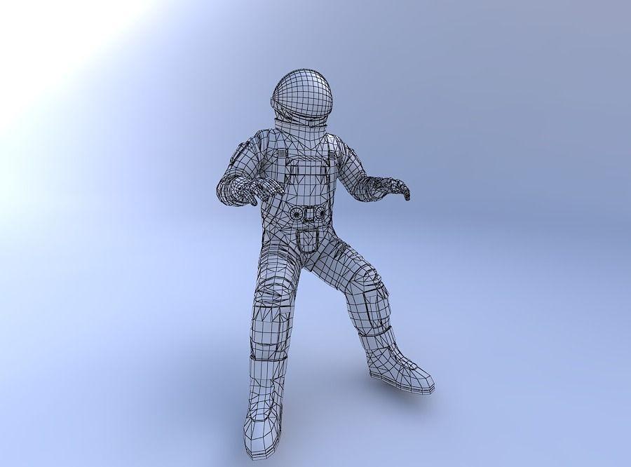 Astronaut_w_texture 3D Model OBJ MTL PDF | CGTrader.com