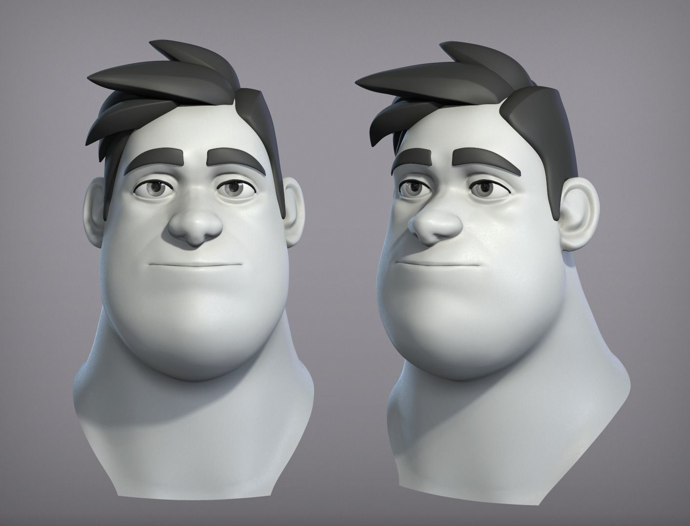 Cartoon male character Harold base mesh