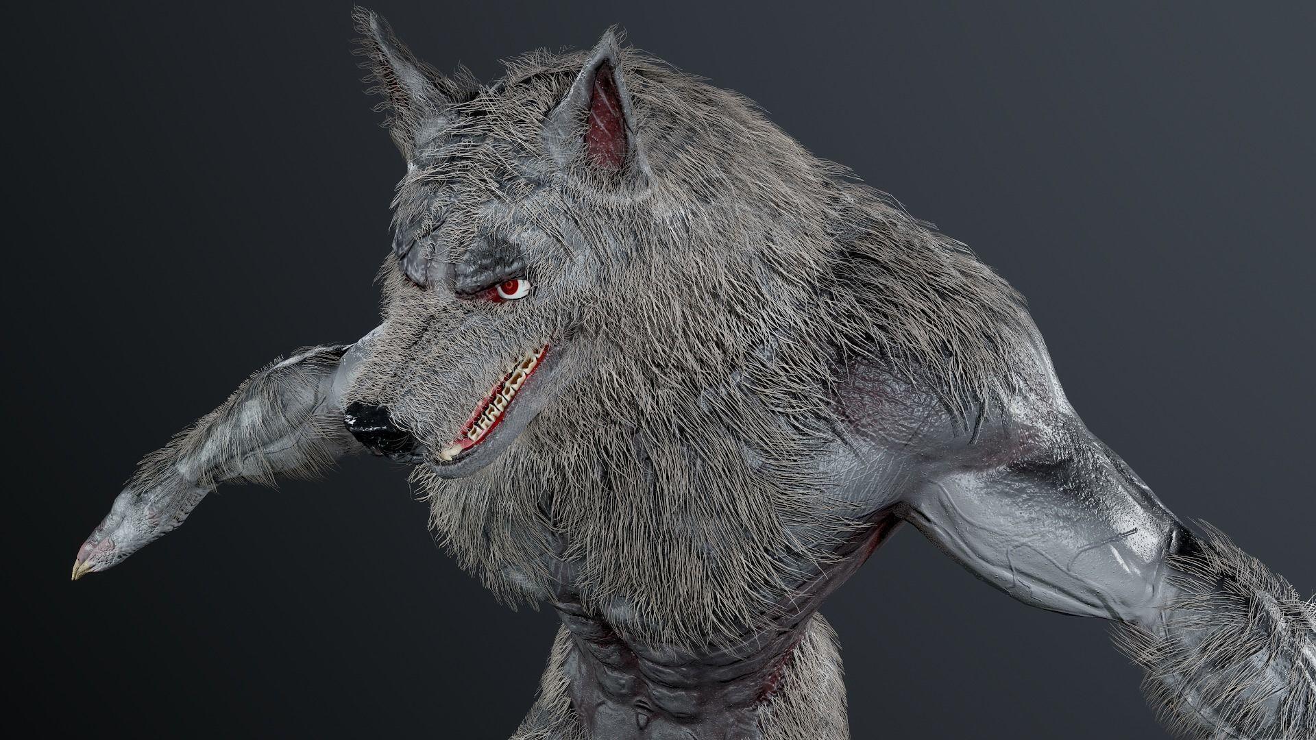 Werewolf 3 skins Unity and UE4 3D model | CGTrader