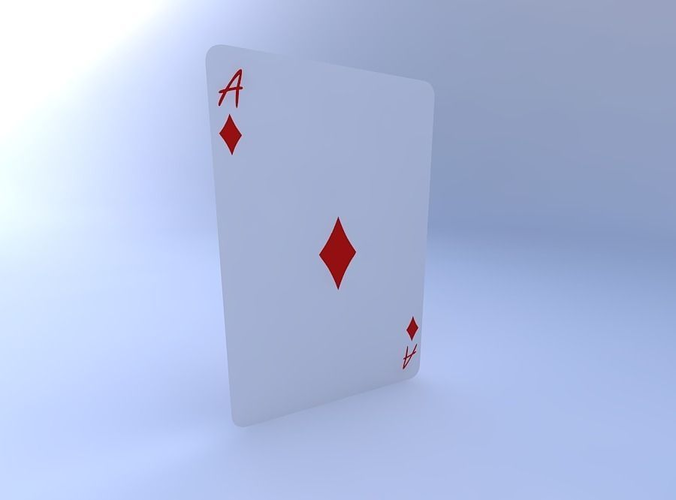 ace of diamonds 3d model obj mtl 1