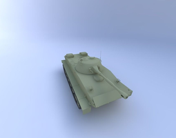 PT-76 Tank 3D Model