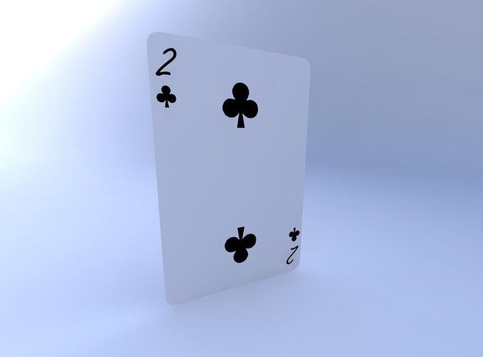 two of clubs 3d model obj mtl 1