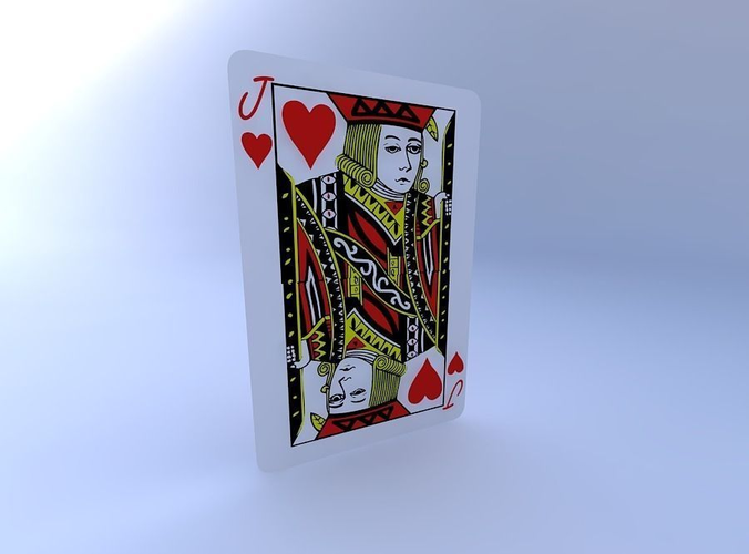 jack of hearts 3d model obj mtl 1