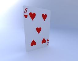 3D Five of Hearts
