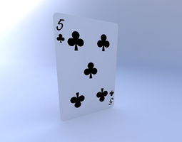Five of Clubs 3D