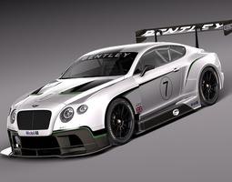 Bentley Continental GT3 2014 Race Car 3D Model