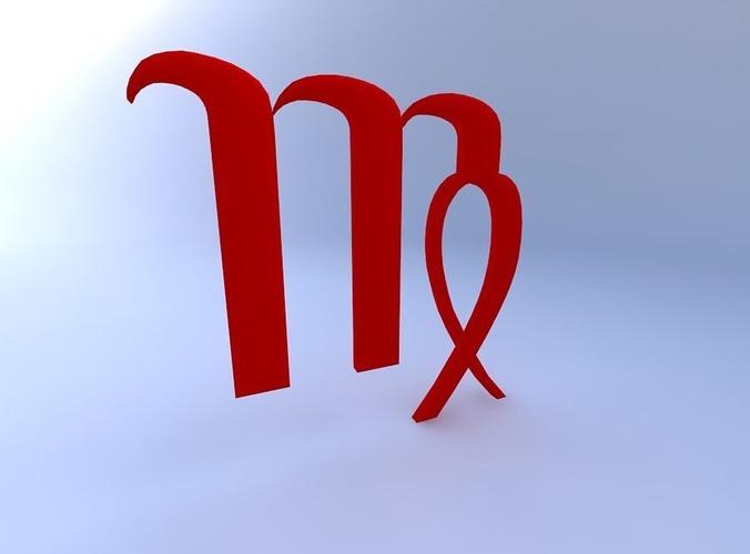 3d Astrological Sign Virgo Cgtrader