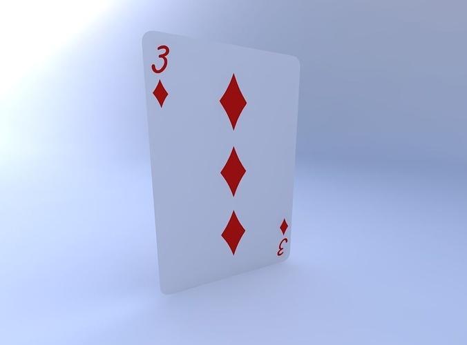 three of diamonds 3d model obj mtl 1
