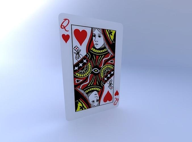 queen of hearts 3d model obj mtl 1