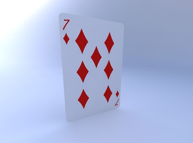 seven of diamonds 3d model obj mtl 1