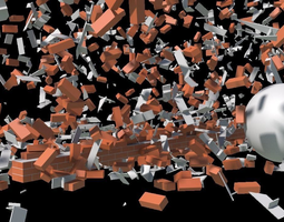 animated 3d model low-poly houdini power asset package