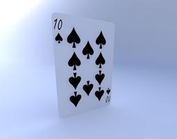 Ten of Spades 3D