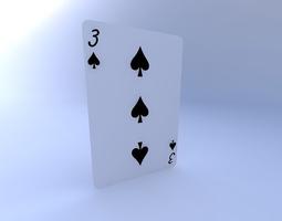 3D model Three of Spades