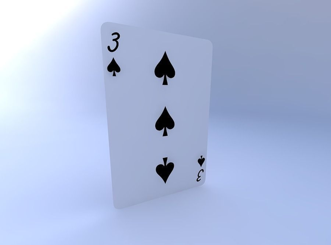 three of spades 3d model obj mtl 1