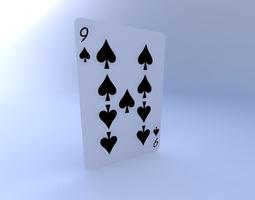 3D model Nine of Spades