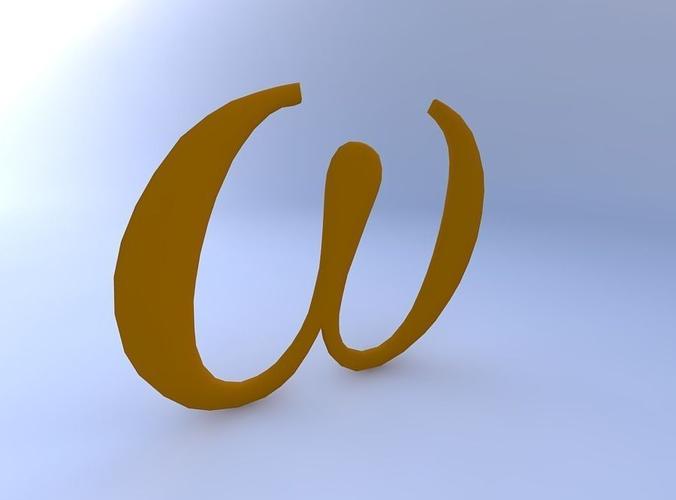 3d Model Greek Letter Omega Cgtrader