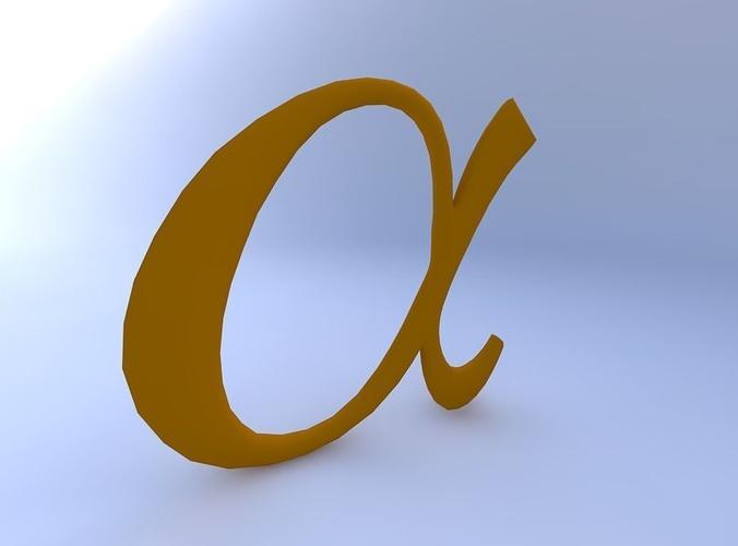 3d Model Greek Letter Alpha Cgtrader