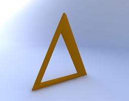 3D model Greek Letter, Delta Upper Case