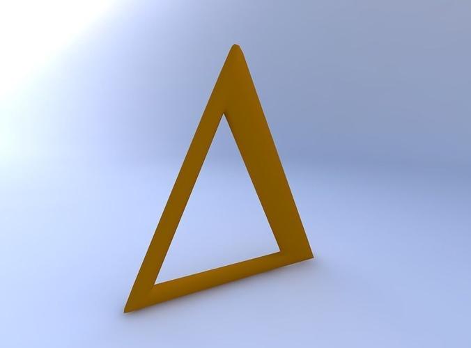 3D model Greek Letter Delta Upper Case