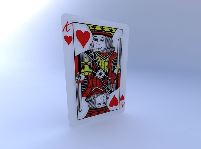 king of hearts 3d model obj mtl 1