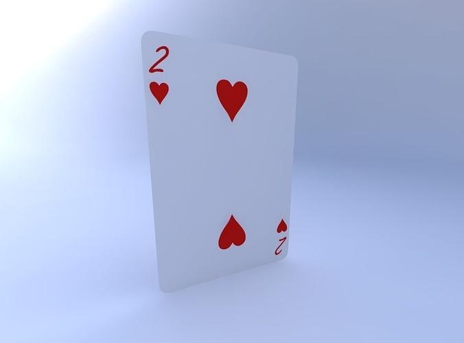 two of hearts 3d model obj mtl 1