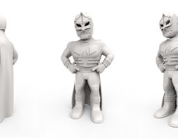 mexican wrestler mascarita sagrada 3d print model