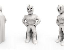 Mexican Wrestler Mascarita Sagrada 3D Model