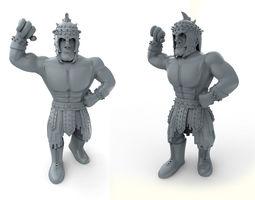mexican wrestler el gladiator 3d model stl