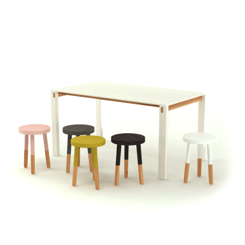 Contemporary Table and Stools