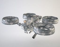 quadrocopter drone rigged 3d