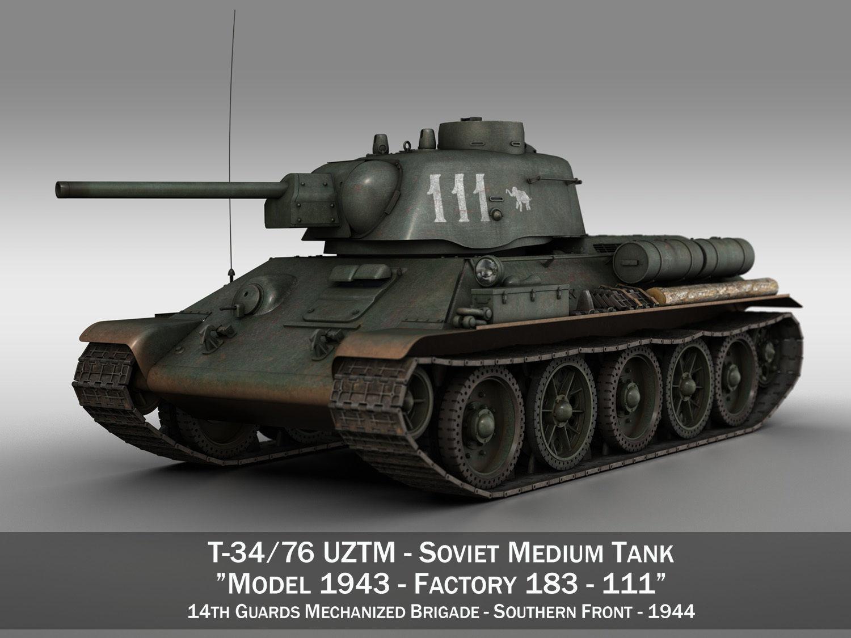 T-34-76 UZTM- Model 1943 - Soviet tank - 111