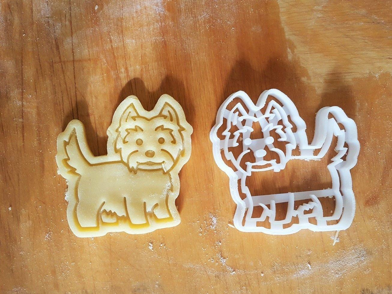West Terrier dog cookie cutter