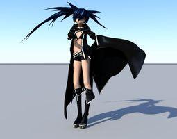 black rock shooter 3d model ma mb tga