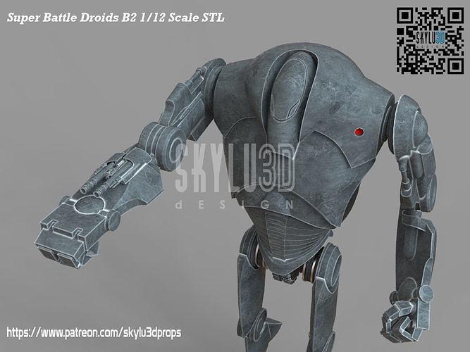 B2 Super Battle Droid Black Series Scale 3d print ready STL